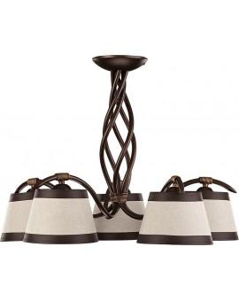 Ceiling lamp Chandelier ALBA 5 brown Sigma 19101