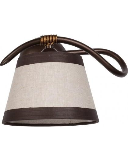 Wandlampe Wandleuchte ALBA braun 19109