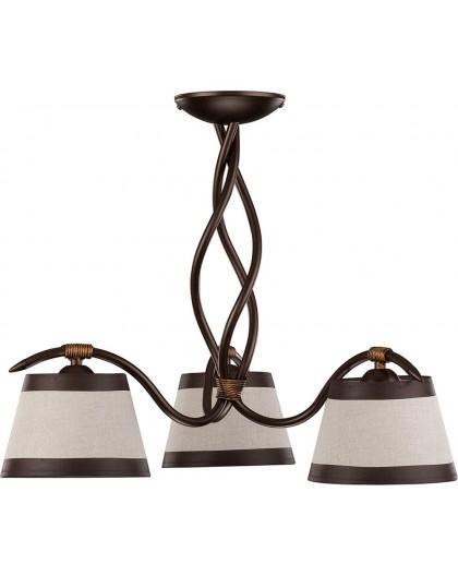 Deckenlampe Deckenleuchte Kronleuchter ALBA 3 braun 19103