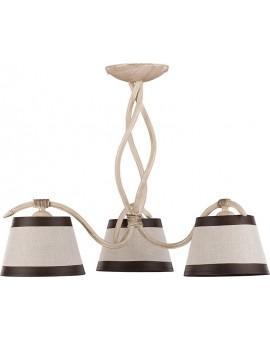 Deckenlampe Deckenleuchte Kronleuchter ALBA 3-flg cremig 19104