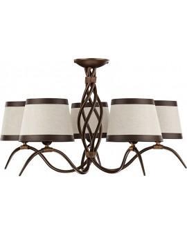 Ceiling lamp ETNA 5 brown 19201 Sigma