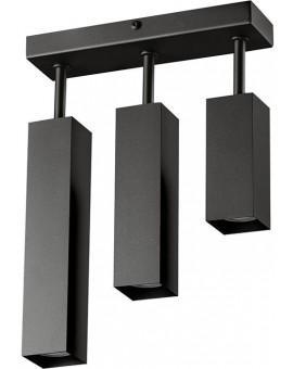 Ceiling lamp FAN SLIM 3 slant black 20422 Sigma