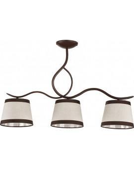 Lampa sufitowa LAKI 3 brązowy 19001 Sigma