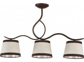 Deckenlampe Deckenleuchte Kronleuchter LAKI 3 braun 19001