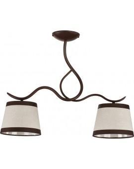 Lampa sufitowa LAKI 2 brązowy 19002 Sigma