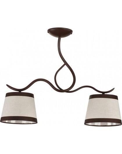 Deckenlampe Deckenleuchte Kronleuchter LAKI 2 braun 19002