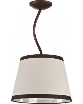 Lampa sufitowa LAKI 1 brązowy 19003 Sigma