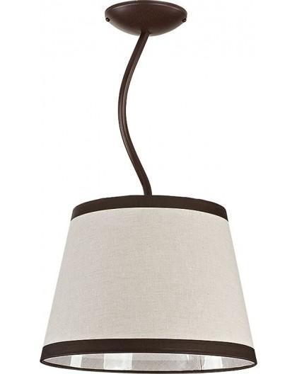 Deckenlampe Deckenleuchte Kronleuchter LAKI 1 braun 19003