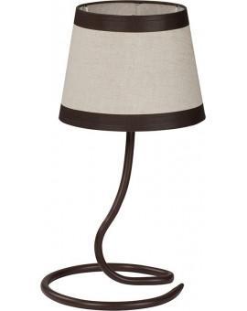 Tischlampe Nachtlampe LAKI braun 19004