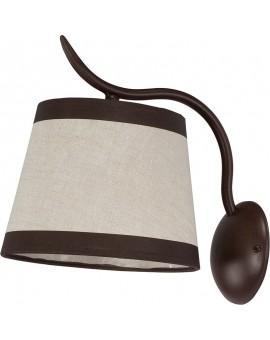 Wandlampe Wandleuchte LAKI braun 19005
