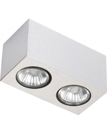 Lampe Deckenlampe Aufbauspot Spot Modern Design Pixel 2-flg Alu gebürstet 18206