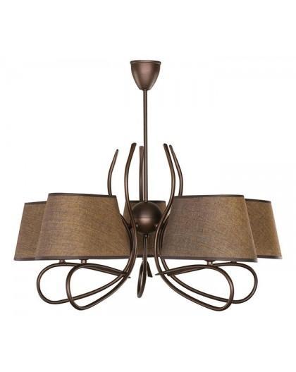 Lampa sufitowa Żyrandol SENSO CIEMNY 5Pł Sigma 16301