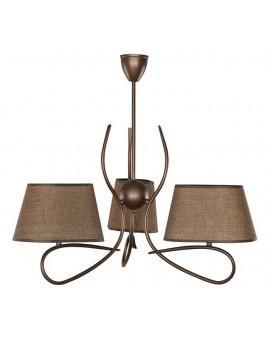 Lampa sufitowa Żyrandol SENSO CIEMNY 3Pł Sigma 16302