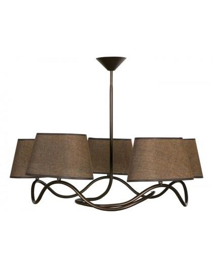 Deckenlampe Deckenleuchte Plafond SENSO Braun 5-flg 17315