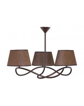 Lampa sufitowa Plafon SENSO CIEMNY 3Pł Sigma 16303