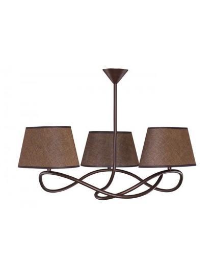 Deckenlampe Deckenleuchte Plafond SENSO Braun 3-flg 16303