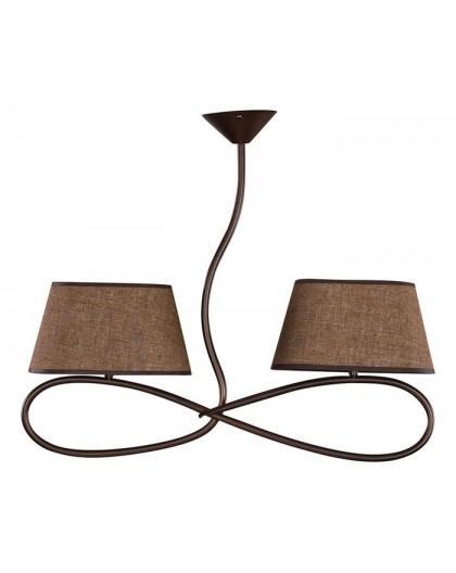 Deckenlampe Deckenleuchte Plafond SENSO Braun 2-flg 16304
