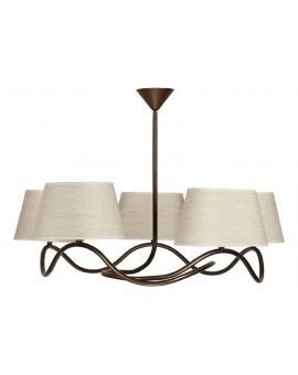 Lampa sufitowa Plafon SENSO JASNY 5Pł Sigma 17307