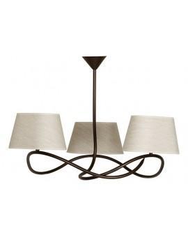 Deckenlampe Deckenleuchte Plafond SENSO Beige 3-flg 16311