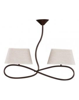 Deckenlampe Deckenleuchte Plafond SENSO Beige 2-flg 16312
