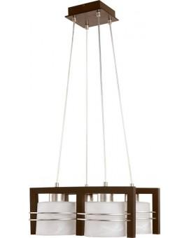 Lampa sufitowa wisząca  CARLO WENGE 4Pł Sigma 07002