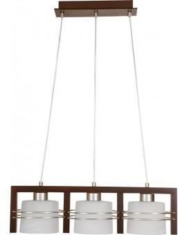 Lampa sufitowa wisząca CARLO WENGE 3Pł Sigma 07004