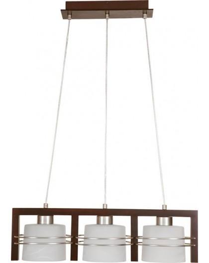 Deckenlampe Hängelampe CARLO Wenge 3-flg 07004