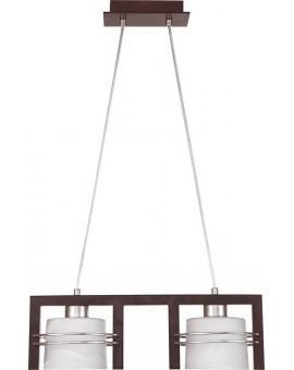 Lampa sufitowa wisząca CARLO WENGE 2Pł Sigma 07006