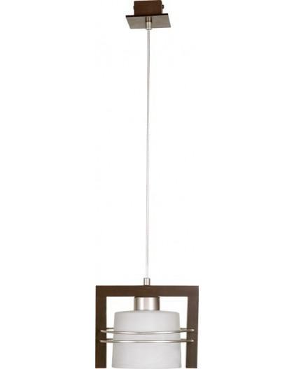 Lampa sufitowa wisząca  CARLO WENGE 1Pł Sigma 07008