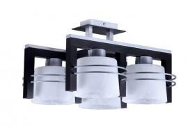 Lampa sufitowa Plafon CARLO WENGE 4Pł Sigma 07022