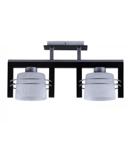 Deckenlampe Deckenleuchte CARLO Wenge 2-flg 07018