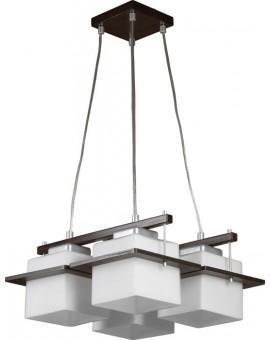 Deckenlampe Hängelampe DELTA WENGE 4-flg 10701