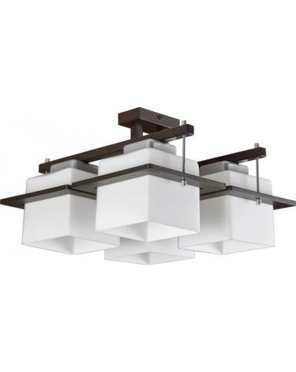 Deckenlampe Deckenleuchte Plafond DELTA WENGE 4-flg 10705