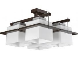 Lampa sufitowa Plafon DELTA WENGE 4Pł Sigma 10705