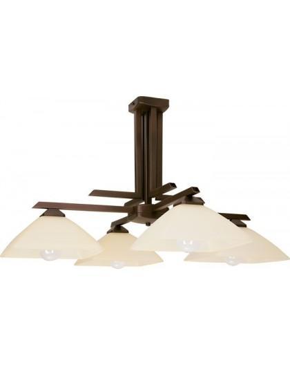 Lampa sufitowa Żyrandol  KENT BRĄZOWY  4Pł Sigma 07202