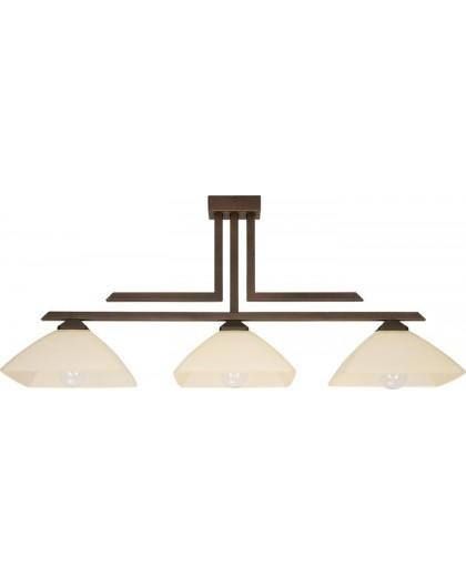 Lampa sufitowa Plafon  KENT BRĄZOWY  3Pł Sigma 07212