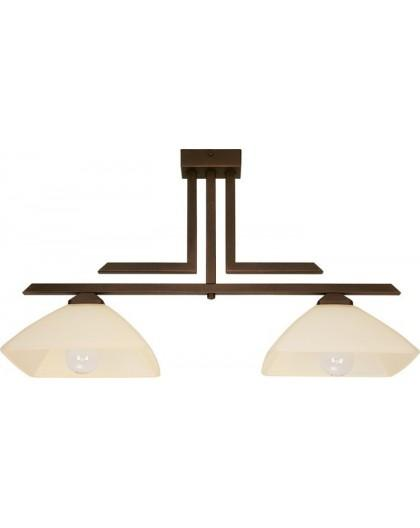 Lampa sufitowa Plafon  KENT BRĄZOWY  2Pł Sigma 07214
