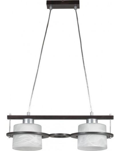 Lampa sufitowa wisząca  KORSO WENGE 2Pł Sigma 11003
