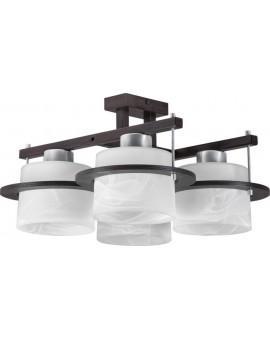 Deckenlampe Plafond Deckenleuchte KORSO WENGE 4-flg 11005