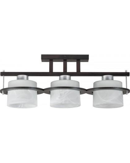 Deckenlampe Plafond Deckenleuchte KORSO WENGE 3-flg 11006