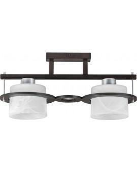 Deckenlampe Plafond Deckenleuchte KORSO WENGE 2-flg 11007