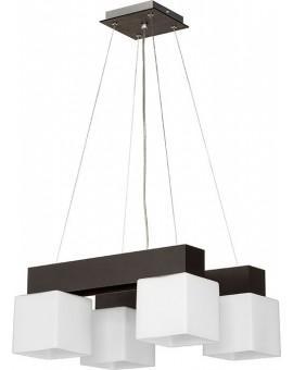 Deckenlampe Hängelampe Glas OSKAR WENGE 4-flg 13101