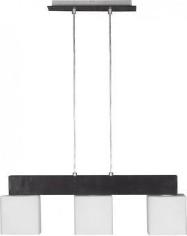 Deckenlampe Hängelampe Glas OSKAR WENGE 3-flg 13102
