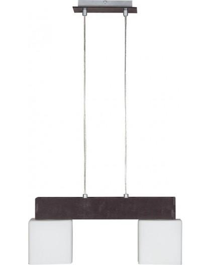 Deckenlampe Hängelampe Glas OSKAR WENGE 2-flg 13103