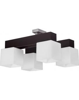 Lampa Plafon  OSKAR WENGE 4Pł Sigma 13105