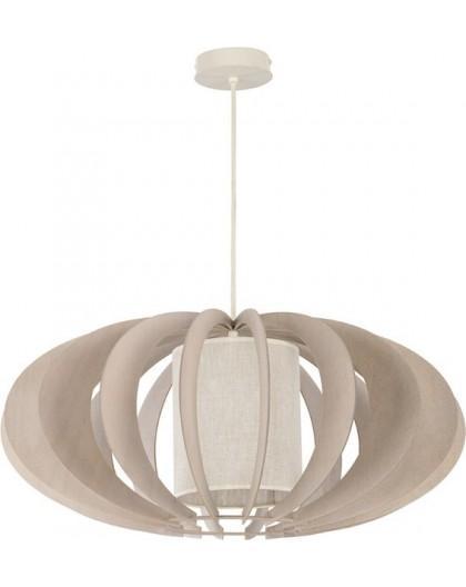 Deckenlampe Hängelampe Stoffschirm Holz Eko Elipsa A 30152