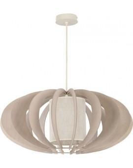 Deckenlampe Hängelampe Stoffschirm Holz Eko Elipsa A 30155