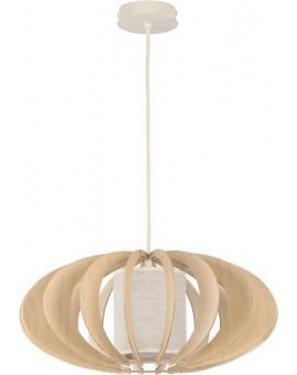 Deckenlampe Hängelampe Stoffschirm Holz Eko Elipsa A 30156