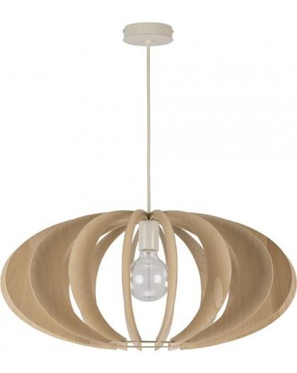 Deckenlampe Hängelampe Stoffschirm Holz Eko Elipsa B 30159
