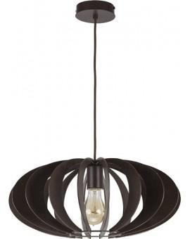 Deckenlampe Hängelampe Stoffschirm Holz Eko Elipsa B 30160